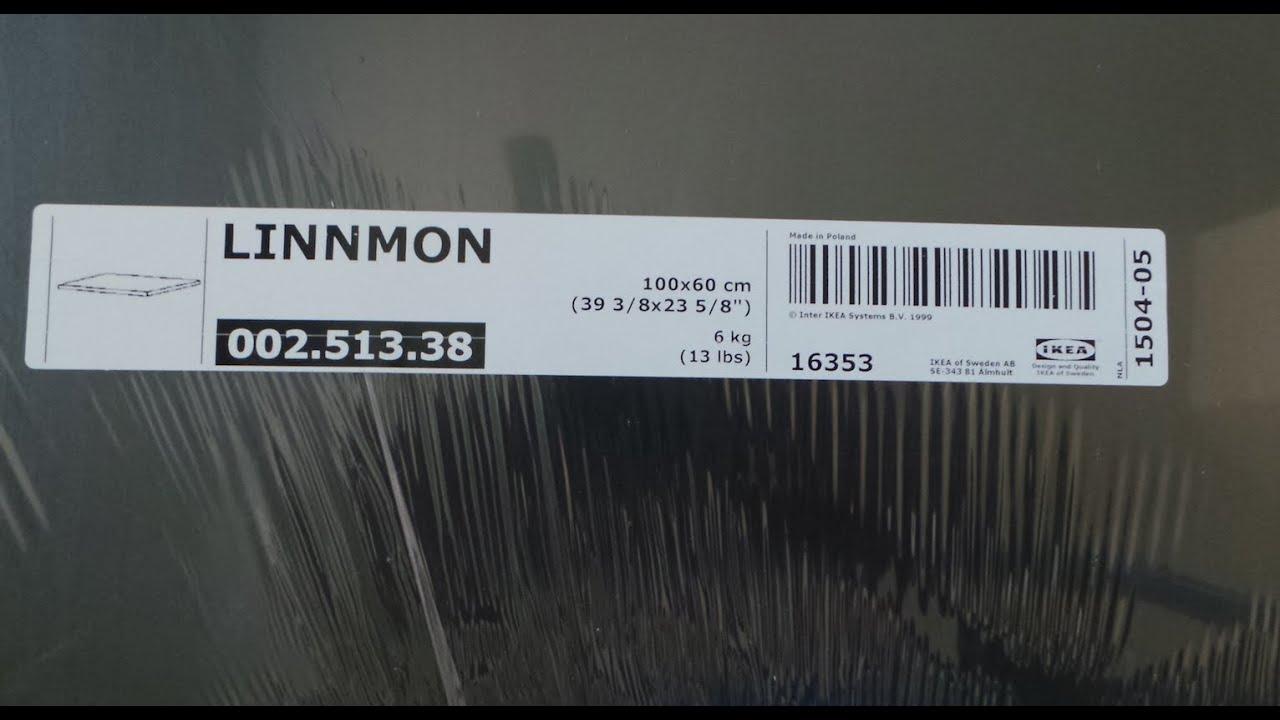 Easy IKEA Linnmon Table Setup - YouTube