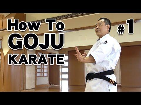 How to GOJU-RYU KARATE #1   Karate Lessons   Master Masaaki Ikemiyagi 9th dan   沖縄伝統空手