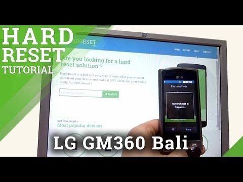 Hard Reset LG GM360 Bali