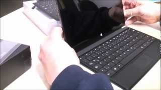 Microsoft Surface mit Windows RT im Unboxing (deutsch)