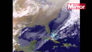 Blizzard Juno: Satellite images show massive snowstorm