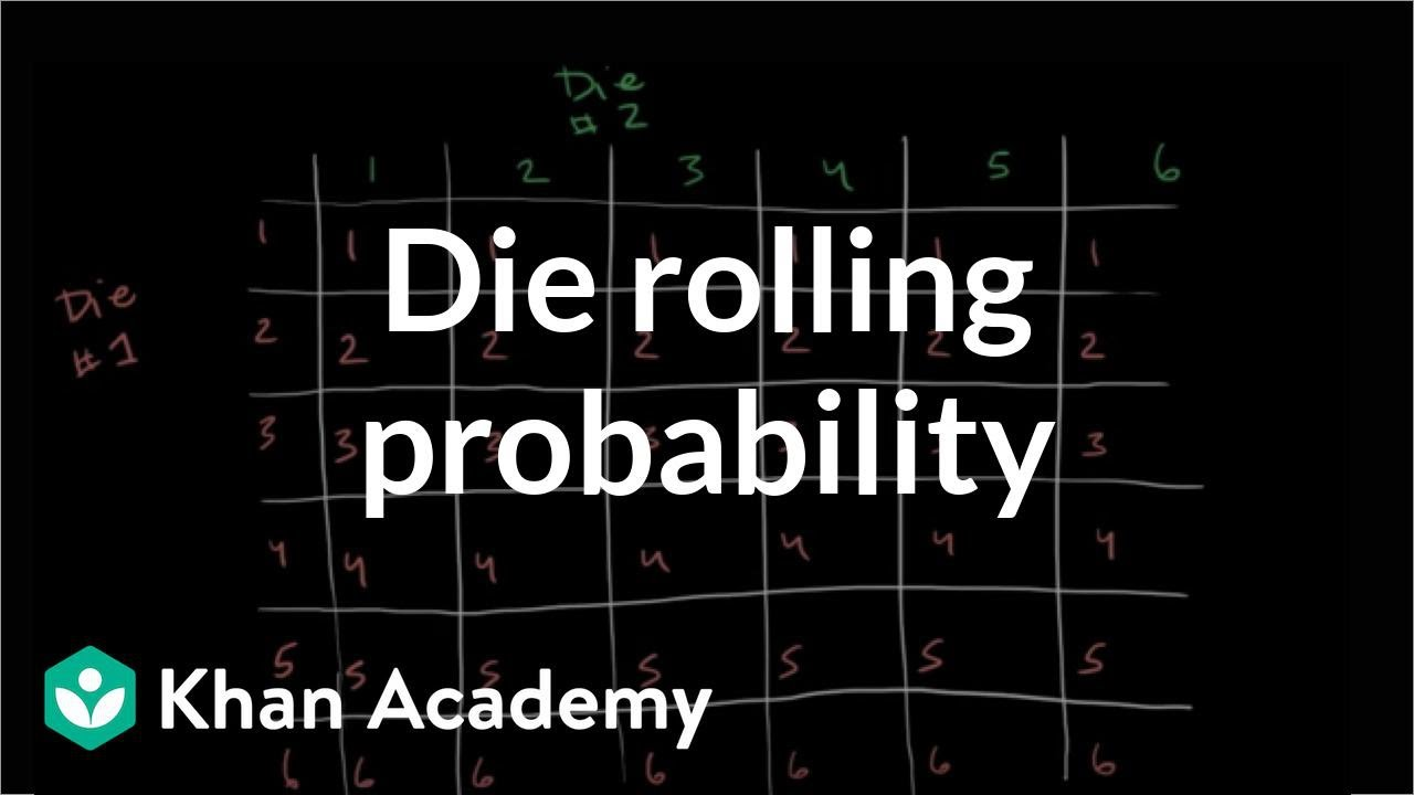 Die rolling probability (video) | Khan Academy