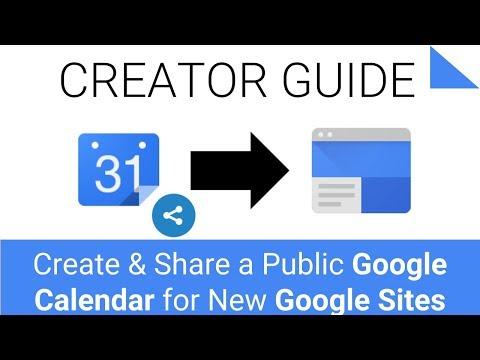 How To Create & Share A Public Google Calendar For Google Sites