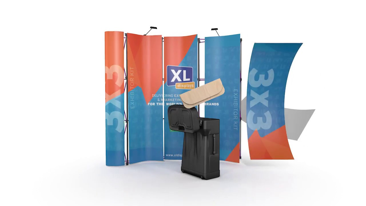 3x3 Exhibition Stand : How to assemble a pop up exhibition stand xl