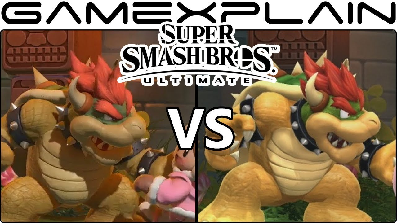 Super Smash Bros  Ultimate Graphics Comparison (Switch vs Wii U!)