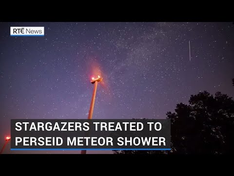 Stargazers catch a glimpse of Perseids across night sky - RTÉ News