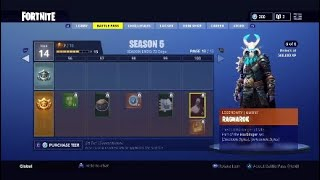 FORTNITE SEASON 5 NEW SKINS! LIT NEW MAP!