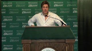 Hugh Grant Speaks To Binghamton