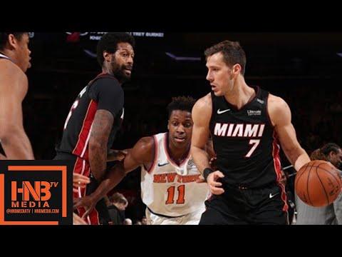 Miami Heat vs New York Knicks Full Game Highlights / April 6 / 2017-18 NBA Season
