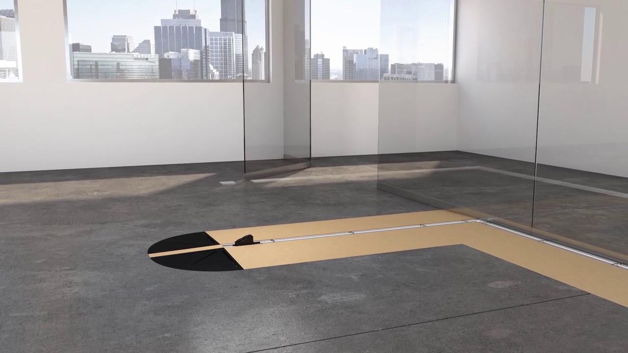 Connectrac Under Carpet Wireway Overview Youtube