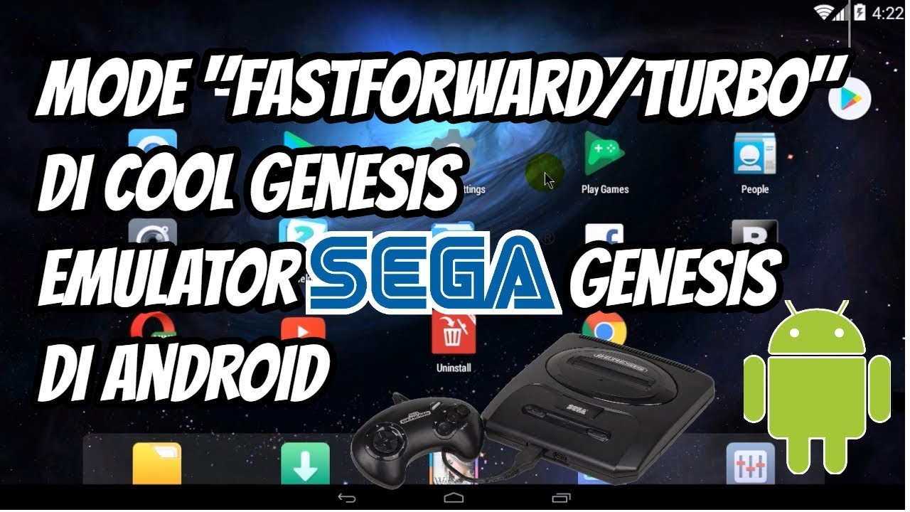 Cara Menggunakan Mode Fast Forward/Turbo di Cool Genesis Emulator Sega  Genesis di Android