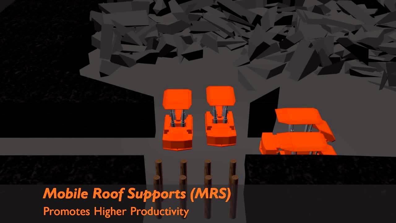 Fletcher Mobile Roof Supports 174 Retreat Mining Youtube
