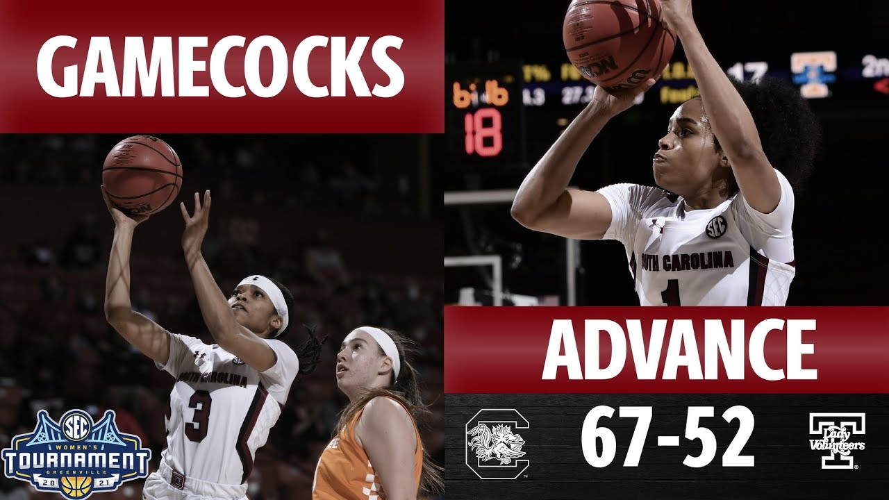 WBB SEC Tournament 2021- The Gamecocks beat Tennessee 67-52 in the Semifinals! Championship Bound