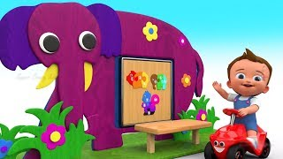 Shapes & Numbers with Wooden Elephant Puzzle ToySet 3D Kids Baby Toddler Learn Colors Educational