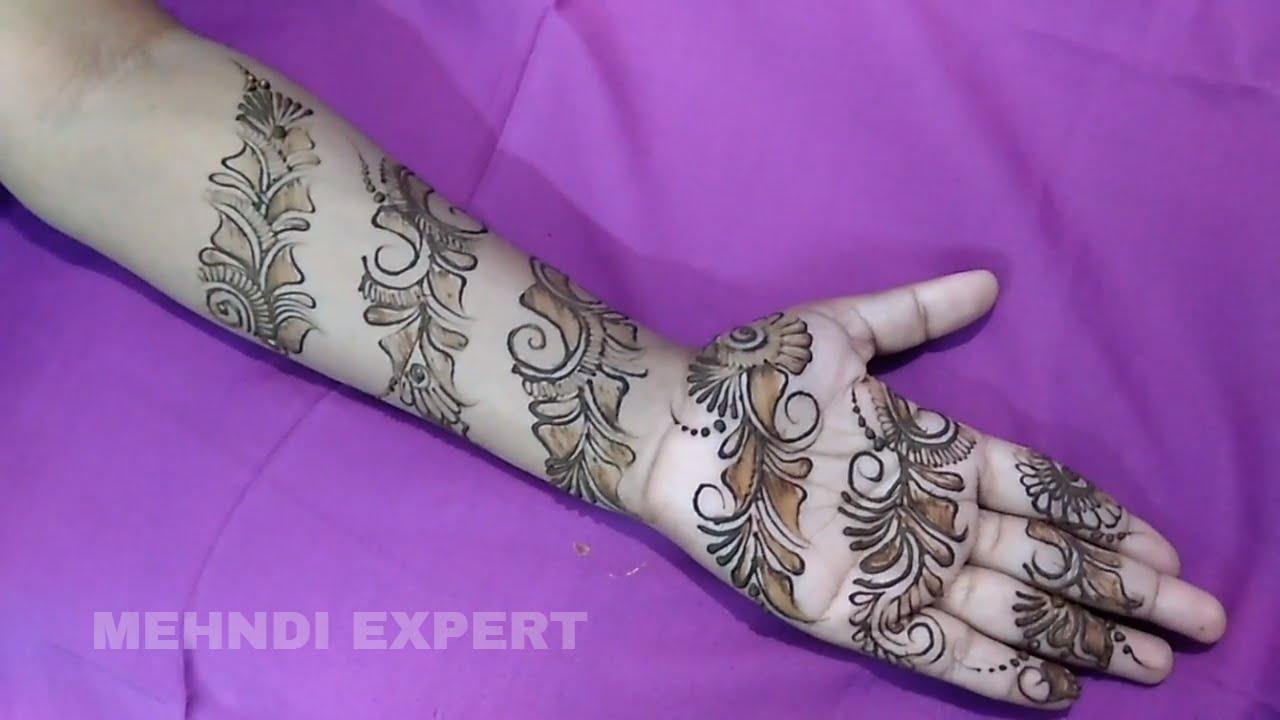 Mehndi design 2017 ki - New Bangal Style Mehndi Or Henna Design 2017 Step By Step Tutorial