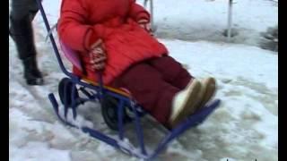 Универсани - детские санки с колесиками