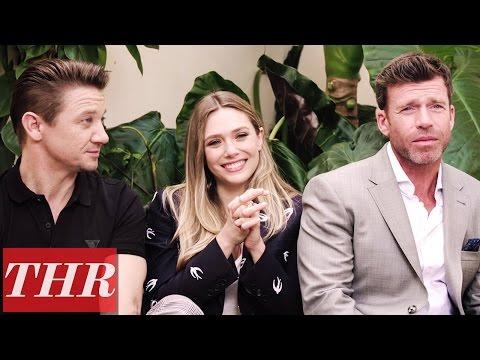 Elizabeth Olsen, Jeremy Renner & Taylor Sheridan on 'Wind River's Standing Ovation  Cannes 2017