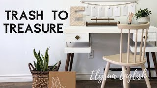 Trash To Treasure | Up-cycle | DIY Home Decor | Dump | Back To School | Thrift Haul | Recycle