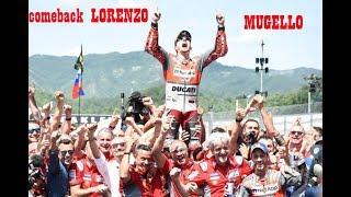 Marquez Crash, Lorenzo Winner. Moto GP mugello 2018. LIVE