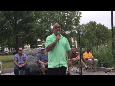 Alder Ernie Santiago, D-15, launches re-election campaign