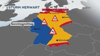"""Tief """"Herwart"""" stürmt über Deutschland"""