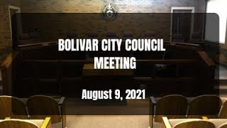 Bolivar City Council — August 9, 2021
