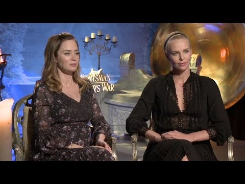 Emily Blunt & Charlize Theron Interview - The Huntsman: Winter's War (HD)