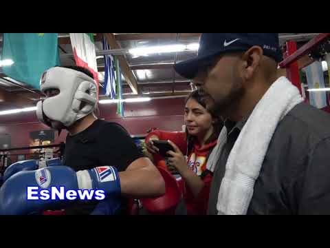 marc castro #1 in world 123 sparring again after going rds with lomachenko EsNews Boxing