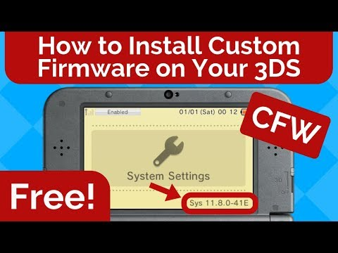 How to Install Custom Firmware for FREE on Your Nintendo 3DS 11.8