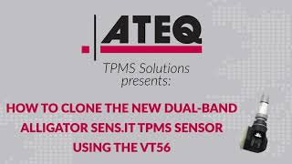How to copy or clone Alligator Sens.it TPMS sensor with the VT56 TPMS Tool