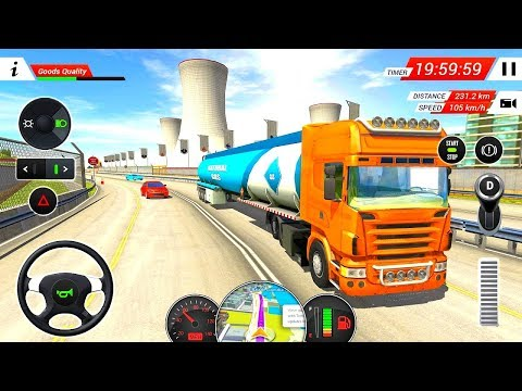 Oil Tanker Transporter Truck Sim (105 KM Crude Oil Delivery) | Best Android & iOS Gameplay HD #1
