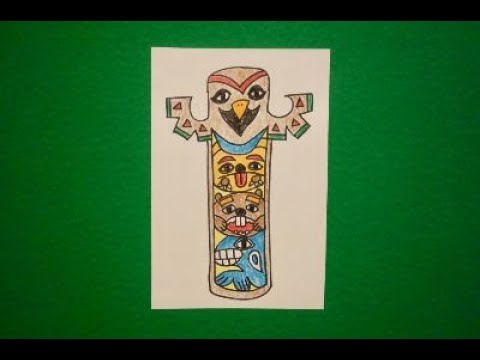 Let S Draw A Totem Pole Pacific Northwest Youtube
