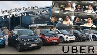 BMW i3 ile Elektrikli Uber Oldum! UBERgreen ile Elektrikli Arabaları Tanıttık [TeslaTurk]