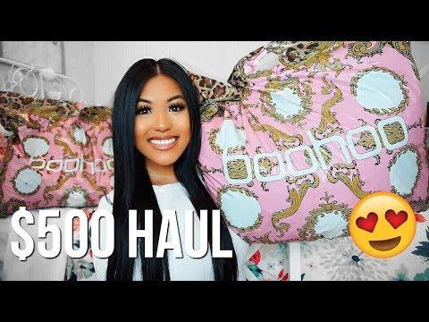 $500 BOOHOO TRY ON HAUL!! FALL & HALLOWEEN UNBOXING