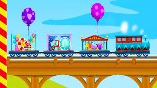 Поезда для детей мультик. Мультфильм про поезд. Гонки на поездах. Паровозки для детей мультик.