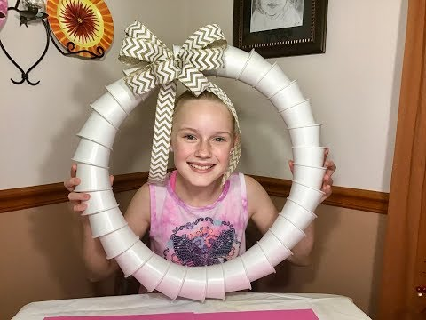 How To Make A Paper Cup Wreath | Easy Craft Tutorial | DIY