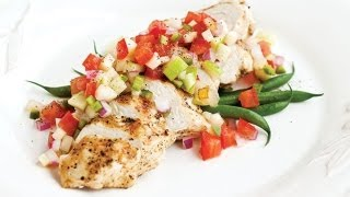 Grilled Chicken Breast With Apple And Pear Salsa