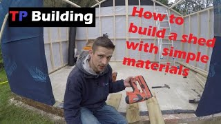 Shed Build. How to Build a Shed. Custom shed build.  DIY outbuilding.  Easy self build.