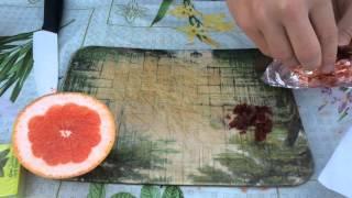 Как сделать кальян на грейпфруте / Кальян на фруктовой чаше