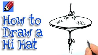 Learn how to draw a Hi Hat Real Easy for kids and beginners