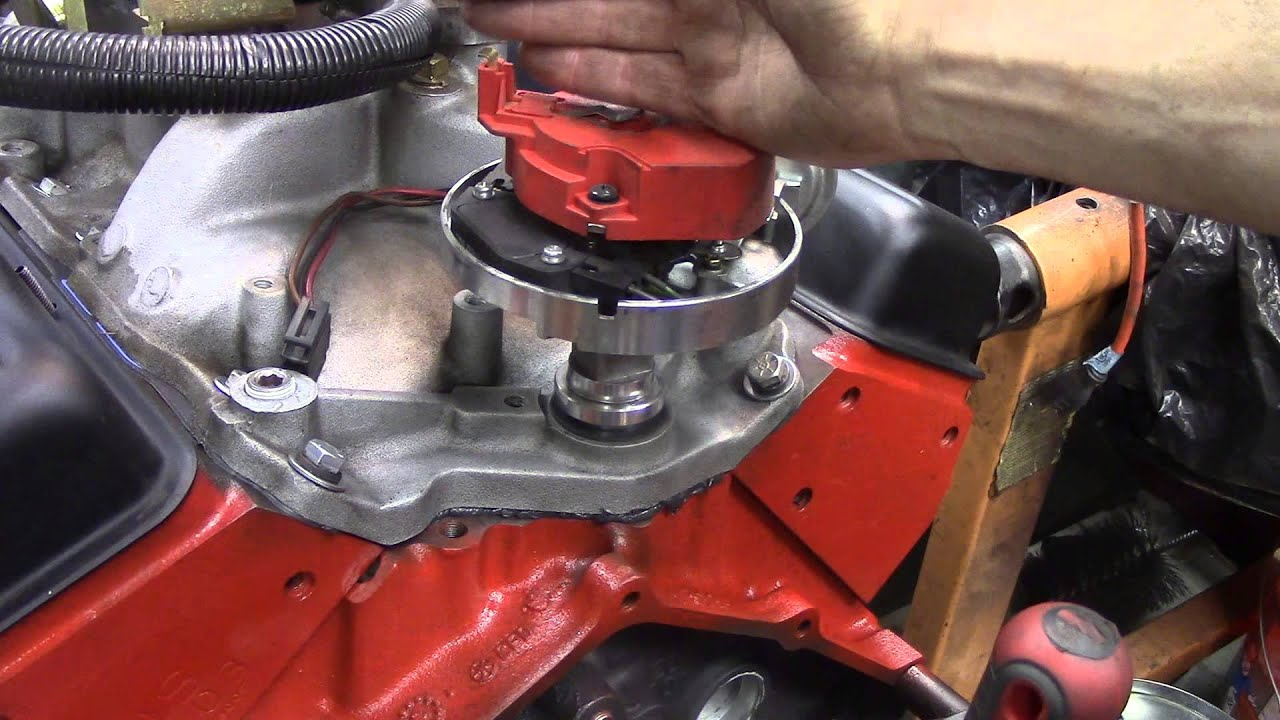 Chevy Hei Ignition Wiring Diagram 8 To 3 Encoder Logic How Install A Distributor In Sbc - Youtube