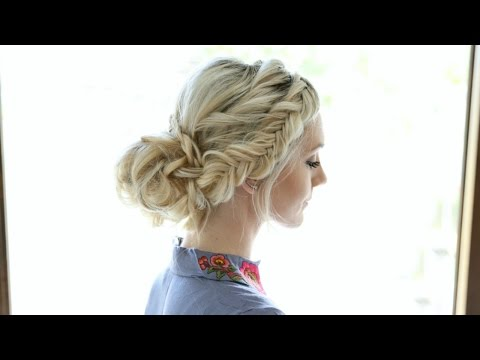 Soft Braided Romantic Updo Hairstyle