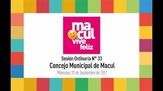 Concejo Municipal de Macul Nº 33 - 20/09/2017