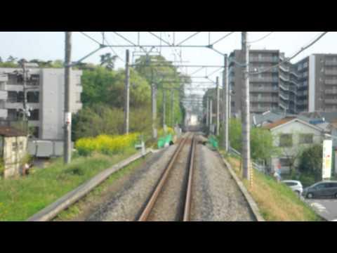 西武国分寺線前面展望 東村山~小川 Seibu Kokubunji Line Front View