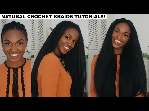 How to do Straight Crochet Braids With a Knotless Part