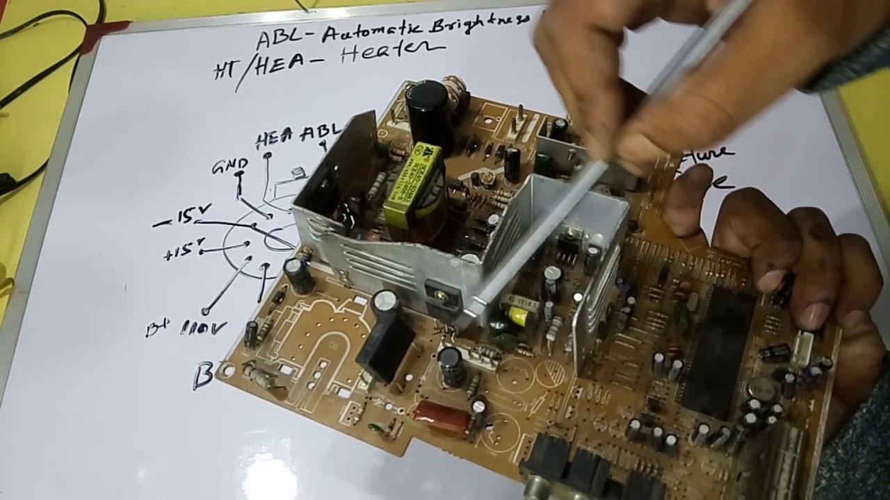 オリジナル Crt Tv Circuit Diagram