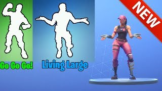 *NEW* LIVING LARGE & GO! GO! GO! DANCE EMOTES! FORTNITE BATTLE ROYALE