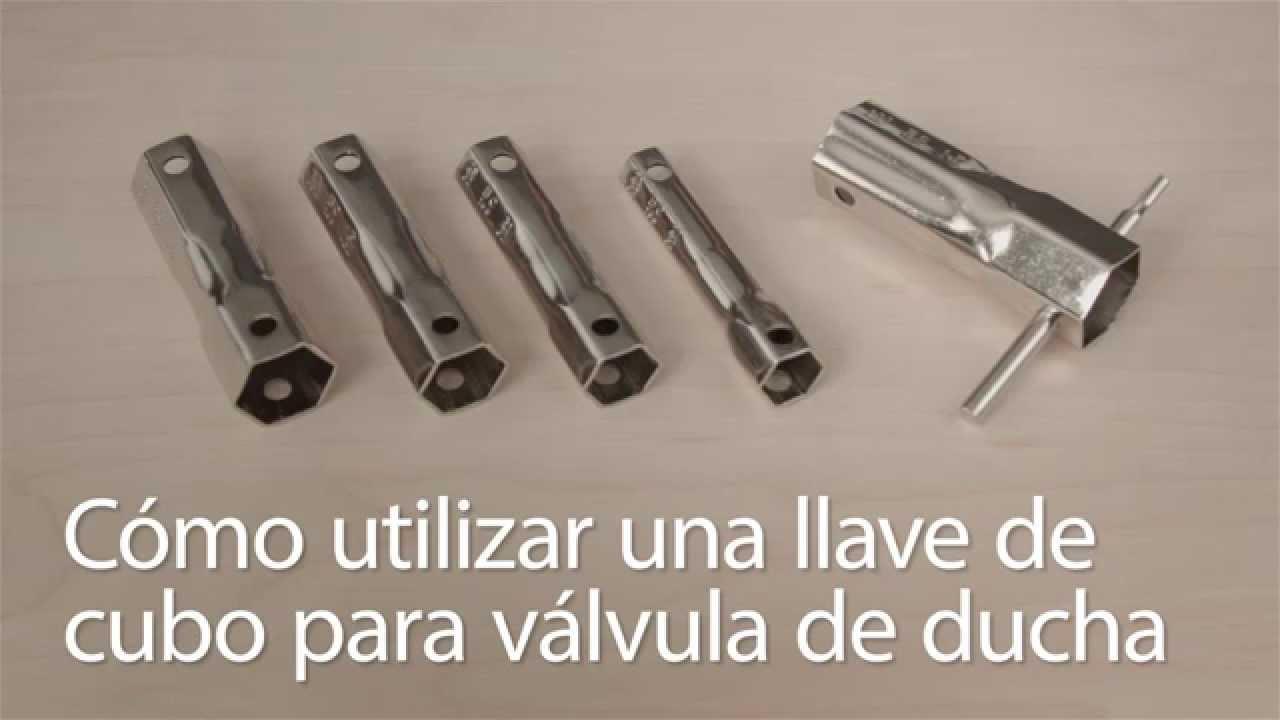 C mo utilizar una llave de cubo para v lvula de ducha for Llave de ducha pared