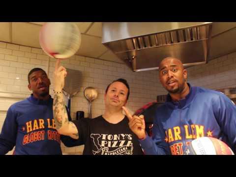 Pizza Tricks | Harlem Globetrotters style | with Tony Gemignani