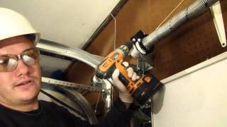 Installing A Garage Door Part 4- Tensioning The Ez- Set Torsion Spring
